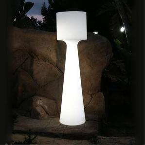 GRACE-Lampadaire dextérieur LED RGB rechargeable H170cm Blanc New Garden