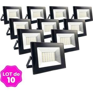Lot de 10 Projecteurs LED 30W Ipad Blanc chaud 2700K Haute Luminosité - EUROPALAMP