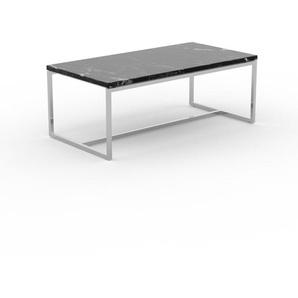Table basse en marbre Noir Marquina, design contemporain, bout de canapé luxueux et sophistiqué - 81 x 31 x 42 cm, personnalisable