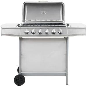 Barbecue au gaz avec 6 zones de cuisson Inox Argenté - CREARTIVE DESIGN