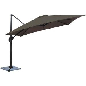 Parasol déporté MOLOKAI carré 3x3m gris - HAPPY GARDEN