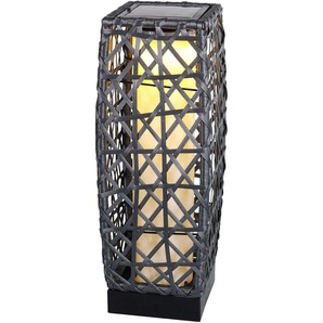Lampe solaire Talora déco, aspect rotin, 47,5 cm