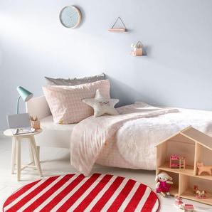 Tapis enfant Noa Kids Stripes Rouge ø 120 cm rond - Tapis pour chambre denfants/bébé