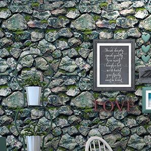 Fond décran 3D Chinois tridimensionnel rétro antique culture pierre pierre pierre rock café mur Acheter trois Get One Free (Color : 56901)