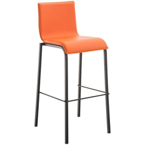 Tabouret Avola cuir plat B78 orange - BAUWERK MANUFACTURE