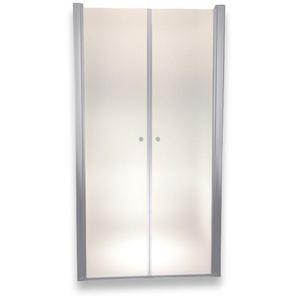 Porte de douche 195 cm largeur réglable 124-128 cm Dépoli-opaque - MONMOBILIERDESIGN
