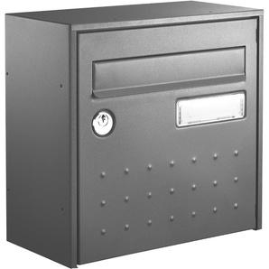Boîte aux lettres STEELBOX DEMI PROFONDEUR GRIS - DECAYEUX