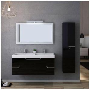 Meuble de salle de bain CALABRO 1200 Noir - DISTRIBAIN