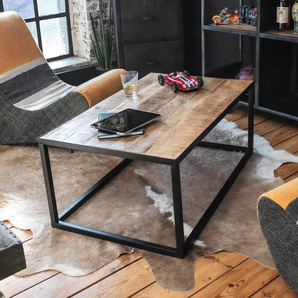 Table basse rectangulaire bois manguier et métal