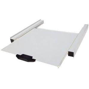 Meliconi 00696 Kit De Superposition Metallique Pour Lave Linge Et Seche Linge Avec Tablette Coulissante En Bois Melamine