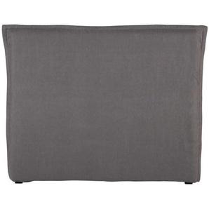 Housse de tête de lit 140 en lin lavé grise Morphee