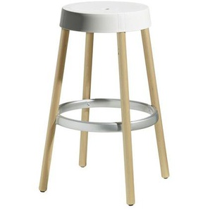 Tabouret de bar design et pieds hêtre - NATURAL GIM - deco design