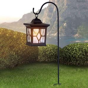 Lampe solaire Eboni noir en forme de lanterne