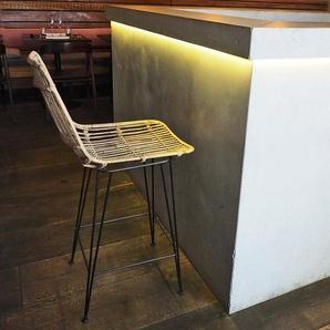 Chaise de bar en rotin naturel