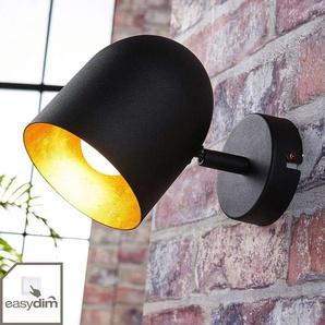 Spot LED noir et doré Morik, easydim