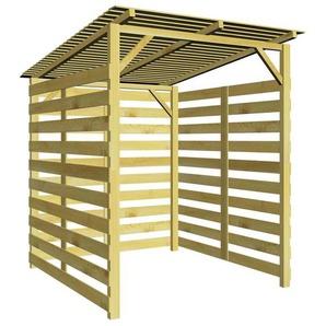 vidaXL Abri de stockage du bois de chauffage Bois de pin impregne FSC