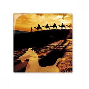 DIYthinker Désert sur Le Chemin de la Carte Route de la Soie Camel céramique Bisque Carreaux pour décorer Salle de Bains Décor de Cuisine Carreaux de céramique Carreaux S