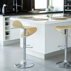 Tabouret de bar couleur bois naturel LIVERPOOL