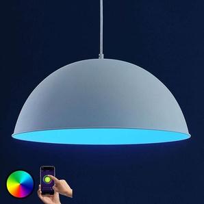 Lindby Smart suspension LED Bowl 51cm blanc