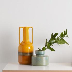 Pavel, grand vase à poignées, glaçure réactive orange