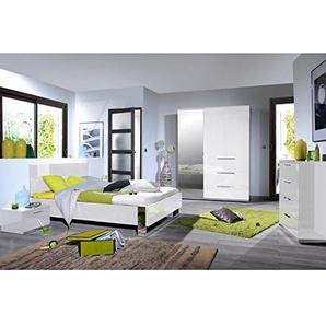 Tousmesmeubles Chambre Adulte Complète (160 * 200) - Sunny n°2 - L 169 x l 207 x H 40/90 - Neuf