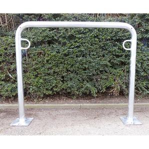 Arceau range-vélos 850 mm hors sol - à cheviller, galvanisé à chaud - en forme de U, longueur 1000 mm - MELZER METALLBAU