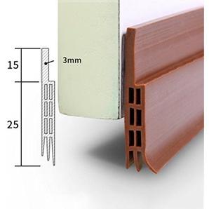Lvguang Bas de Porte dEtanchéité Adhésif Imperméable à lEau Isolement du Bruit du Passage dAir Anti Souris Cafard pour les fissures et les espaces Brown # 1 100 * 4 * 0.5 cm