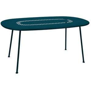 Fermob Table ovale Lorette  - 21 bleu Acapulco
