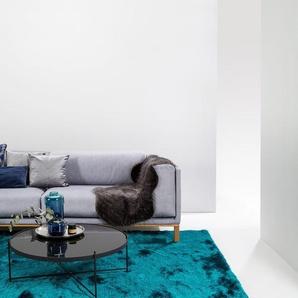 Tapis shaggy à poils longs Whisper Turquoise 240x340 cm - Tapis doux pour salon