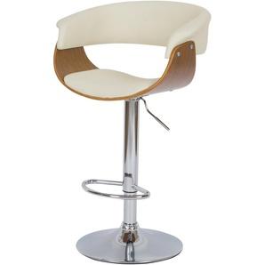 Chaise de bar blanche Basile avec accoudoirs 55.5/81 cm - RENDEZ VOUS DéCO