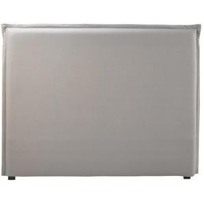 Housse de tête de lit 140 en coton gris