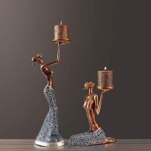Penao Décoration Vintage de bougeoir créatif, décorations Douces du Salon de la Table à Manger, Accessoires de dîner aux chandelles Romantique