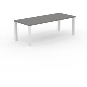 Table à manger - Gris, design, pour salle à manger ou cuisine plateau de qualité - 220 x 76 x 90 cm, personnalisable