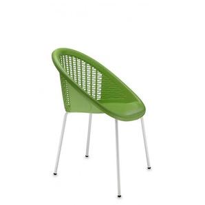 4 Chaises design pieds blancs - BONBON - deco scab