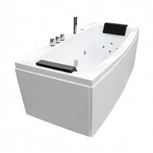 Baignoire balneo rectangulaire 170x75 hydromassante blanche - OUEST-BALNEO