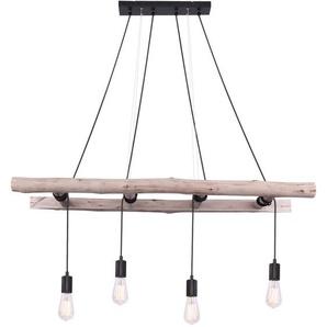 Suspension LED, échelle en bois, naturelle, H 192 cm, IRMGARD - ETC-SHOP