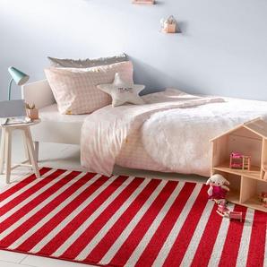 Tapis enfant Noa Kids Stripes Rouge 140x200 cm - Tapis pour chambre denfants/bébé
