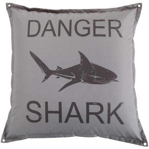 Pouf gris imprimé requin