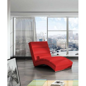 JUSTyou CHICAGO Fauteuil relax 75x175x85 Rouge