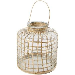Lanterne en bambou et verre