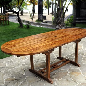 Table en teck huilé ovale 10 places : Java