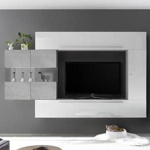 Ensemble télé blanc et couleur gris béton SALEMI