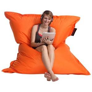 Pouf géant design orange BIG MILIBAG