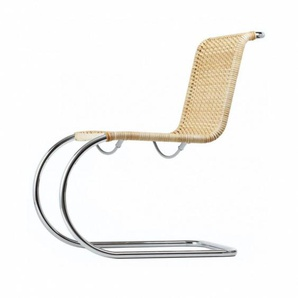 Thonet S 533 - Chaise cantilever - naturel/osier/châssis chrome