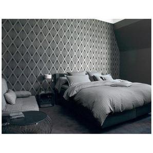 Housse de couette PALACE Ardoise - Blanc des Vosges 200x200 cm