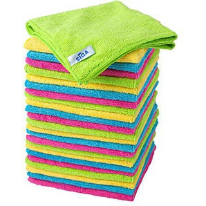 MR. SIGA chiffon nettoyant microfibre de quatre couleurs lot de 24, dimension: 32 x 32 cm -par MR. SIGA