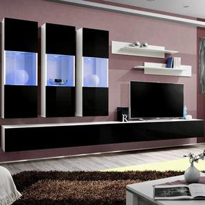 Ensemble TV mural noir et blanc ARDARA