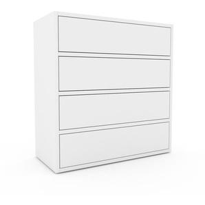 Commode - blanc, pièce de caractère, sophistiquée, avec tiroir blanc - 77 x 80 x 35 cm, personnalisable