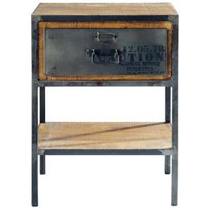 Table de chevet avec tiroir en métal noire L 45 cm Manufacture