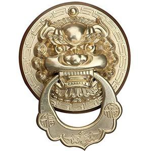 Poignée en cuivre/poignée de Porte Ancienne/Porte de Villa tête de Lion en cuivre heurtoir/Couleur: A, Taille: 30cm * 29cm
